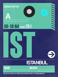 IST Istanbul Luggage Tag 1 Plastic Sign by  NaxArt