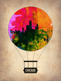 Chicago Air Balloon Plastic Sign by  NaxArt