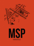 MSP Minneapolis Airport Orange Plastic Sign by  NaxArt