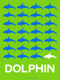 Dolphin Poster Plastic Sign by  NaxArt