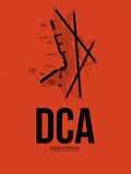 DCA Washington Airport Orange Plastic Sign by  NaxArt