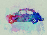 VW Beetle Watercolor 1 Plastic Sign by  NaxArt