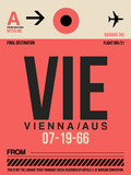 VIE Vienna Luggage Tag 1 Plastic Sign by  NaxArt
