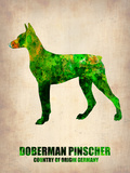 Doberman Pinscher Poster Plastic Sign by  NaxArt