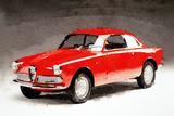 1958 Alfa Romeo Giulietta Sprint Watercolor Plastic Sign by  NaxArt