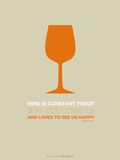 Wine Poster Orange Plastic Sign by  NaxArt
