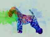 Welsh Terrier Watercolor Plastic Sign by  NaxArt