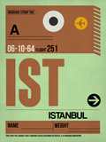 IST Istanbul Luggage Tag 2 Plastic Sign by  NaxArt