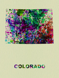Colorado Color Splatter Map Plastic Sign by  NaxArt