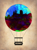 Cincinnati Air Balloon Plastic Sign by  NaxArt