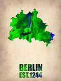 Berlin Watercolor Map Plastic Sign by  NaxArt