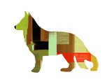 German Shepard 2 Plastic Sign by  NaxArt