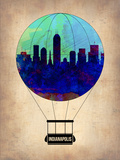 Indianapolis Air Balloon Plastic Sign by  NaxArt