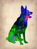 German Sheppard Watercolor Plastic Sign by  NaxArt