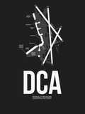 DCA Washington Airport Black Plastic Sign by  NaxArt
