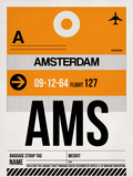 AMS Amsterdam Luggage Tag 2 Plastic Sign by  NaxArt