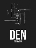 DEN Denver Airport Black Plastic Sign by  NaxArt
