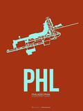 Phl Philadelphia Poster 2 Plastic Sign by  NaxArt