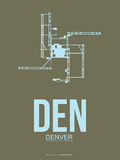 Den Denver  Poster 3 Plastic Sign by  NaxArt