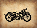 Vintage Motorcycle 1 Plastic Sign by  NaxArt