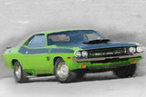 1970-TA-Challenger Watercolor Plastic Sign by  NaxArt