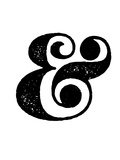 Ampersand White Plastic Sign by  NaxArt
