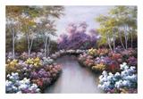 Floral Fantasy Print by Diane Romanello