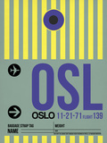 OSL Oslo Luggage Tag 1 Plastic Sign by  NaxArt