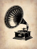 Gramophone 1 Plastic Sign by  NaxArt