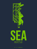 Sea Seattle Poster 2 Plastic Sign by  NaxArt