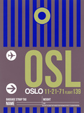 OSL Oslo Luggage Tag 2 Plastic Sign by  NaxArt
