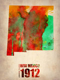New Mexico Watercolor Map Plastic Sign by  NaxArt