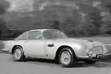 Aston Martin DB5 Watercolor Signes en plastique rigide par  NaxArt