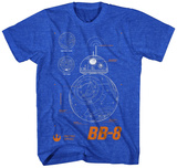 Star Wars The Force Awakens- BB-8 Plans Shirts
