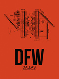 DFW Dallas Airport Orange Plastic Sign by  NaxArt