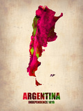 Argentina Watercolor Map Plastic Sign by  NaxArt