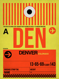 DEN Denver Luggage Tag 1 Plastic Sign by  NaxArt