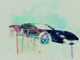 Ford Gt Watercolor 2 Plastic Sign by  NaxArt