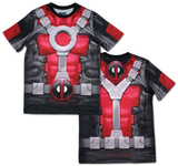 Deadpool Sublimated Costume Tee T-shirts
