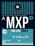MXP Milan Luggage Tag 2 Plastic Sign by  NaxArt