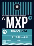 MXP Milan Luggage Tag 2 Plastic Sign by  NaxArt