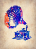 Gramophone 2 Plastic Sign by  NaxArt