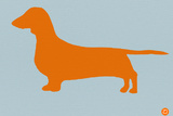 Dachshund Orange Plastic Sign by  NaxArt