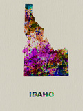 Idaho Color Splatter Map Plastic Sign by  NaxArt