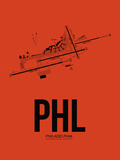 PHL Philadelphia Airport Orange Plastic Sign by  NaxArt