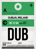 DUB Dublin Luggage Tag 1 Plastic Sign by  NaxArt