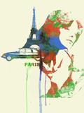 Paris Romance Plastic Sign by  NaxArt