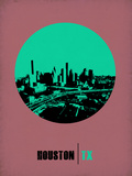 Houston Circle Poster 1 Plastic Sign by  NaxArt