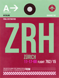 ZRH Zurich Luggage Tag 2 Plastic Sign by  NaxArt