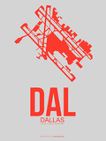 Dal Dallas Poster 1 Plastic Sign by  NaxArt